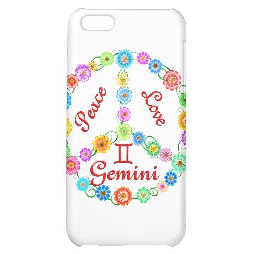 Peace Love Gemini Case For iPhone 5C