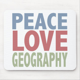 Peace Love Geography Mouse Mat