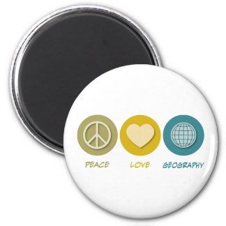 Peace Love Geography Refrigerator Magnet