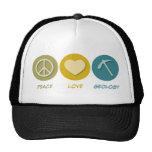 Peace Love Geology Trucker Hats