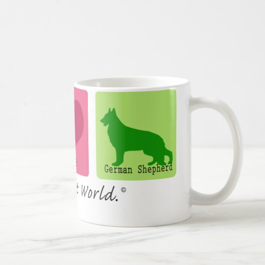 Peace Love German Shepherd Coffee Mug
