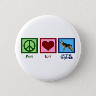 Peace Love German Shepherds 6 Cm Round Badge