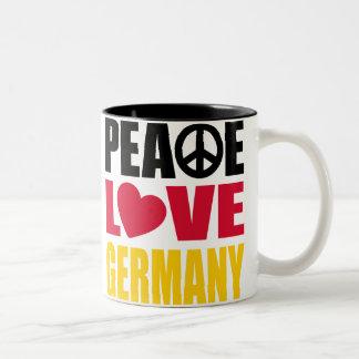 Peace Love Germany Mugs