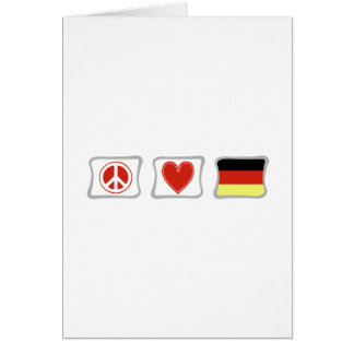 Peace Love Germany Portrait greeting Card