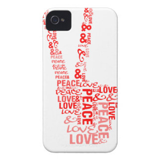 Peace & Love - Give peace a chance iPhone 4 Cases