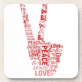 Peace & Love - Give peace a chance Coaster