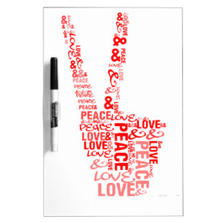 Peace & Love - Give peace a chance Dry-Erase Board