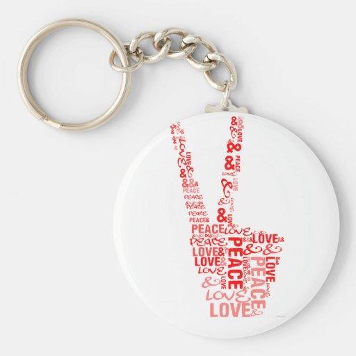 Peace & Love - Give peace a chance Key Chain