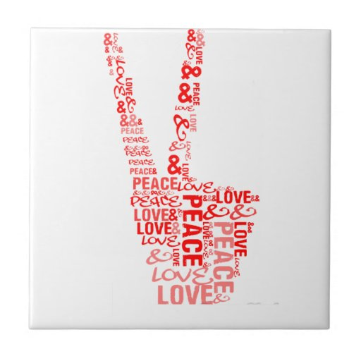 Peace & Love - Give peace a chance Ceramic Tiles