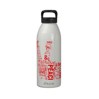 Peace & Love - Give peace a chance Drinking Bottles