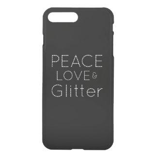 Peace Love Glitter iPhone 7 Plus Case