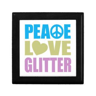 Peace Love Glitter Trinket Boxes