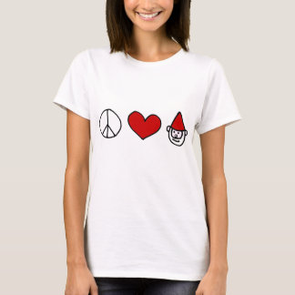 Peace Love Gnome T-Shirt
