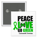 Peace Love Go Green Environment Butterfly Pins