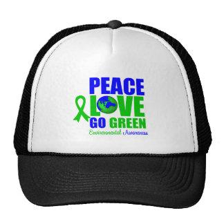 Peace Love Go Green Environment v2 Trucker Hat
