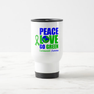 Peace Love Go Green Environment v2 Coffee Mug