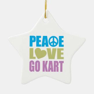 Peace Love Go Kart Christmas Ornament
