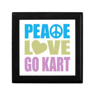 Peace Love Go Kart Small Square Gift Box