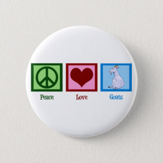 Peace Love Goats 6 Cm Round Badge