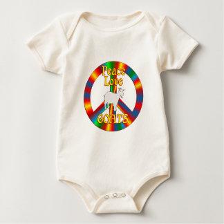 Peace Love Goats Baby Bodysuit