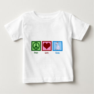 Peace Love Goats Baby T-Shirt