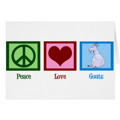 Peace Love Goats Greeting Cards