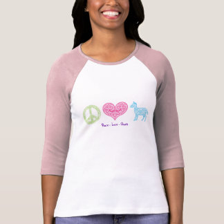 Peace - Love - Goats Women's Raglan Tee