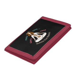 PEACE LOVE GOATS YOGA | GetYerGoat™ Tri-fold Wallet