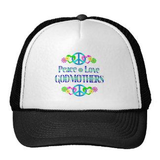 Peace Love Godmothers Trucker Hats
