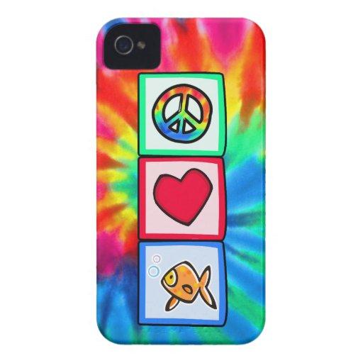 Peace, Love, Goldfish iPhone 4 Case-Mate Case