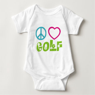 Peace Love Golf Baby Bodysuit