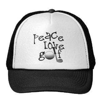 Peace, Love, Golf Mesh Hats