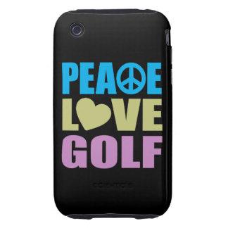 Peace Love Golf iPhone 3 Tough Case