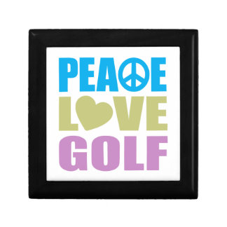 Peace Love Golf Jewelry Boxes