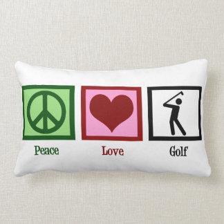 Peace Love Golf Lumbar Cushion
