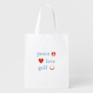 Peace Love Golf Reusable Grocery Bag