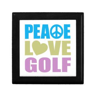 Peace Love Golf Small Square Gift Box