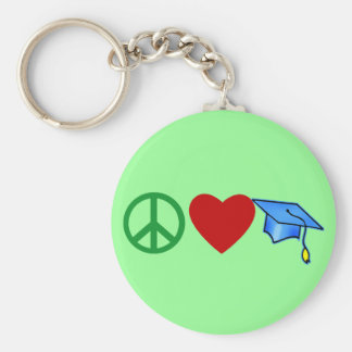 Peace Love Graduation T shirts and Grad Gifts Keychains