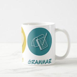 Peace Love Grammar Coffee Mug