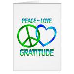 Peace Love GRATITUDE Greeting Card