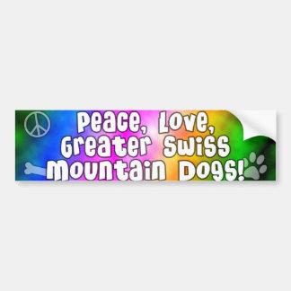 Peace Love Greater Swiss Mtn Dogs Bumper Sticker