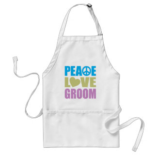 Peace Love Groom Aprons