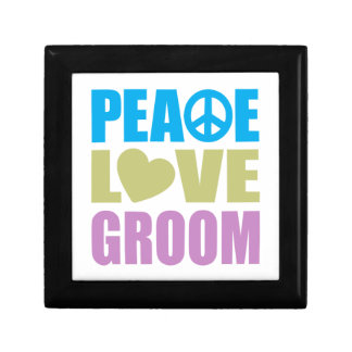 Peace Love Groom Jewelry Boxes