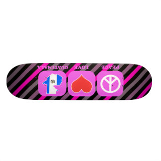 Peace Love Guatemala Custom Skate Board