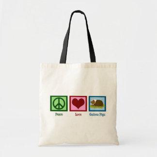 Peace Love Guinea Pigs Budget Tote Bag