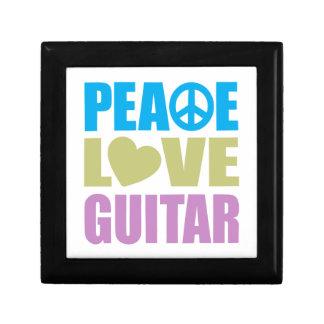 Peace Love Guitar Small Square Gift Box