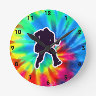 Peace, Love, Guitars Round Clock