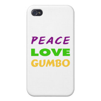 PEACE LOVE GUMBO iPhone 4/4S COVERS