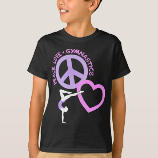 Peace-Love-Gymnastic, pink/purple2 T-Shirt