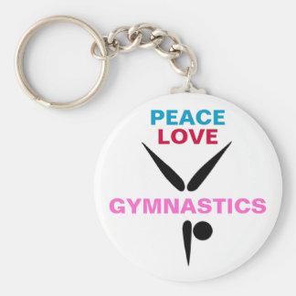Peace Love Gymnastics Basic Keychain